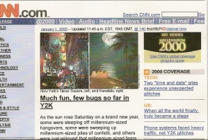 Scanned image of printed copy of cnn.com, 1/1/200