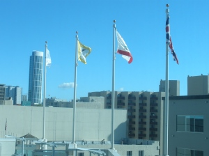 A portion of San Francisco skyline from my hotel, November 2010