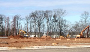 Gwinnett Church construction near Suwanee, Ga., in February 2014. (Credit: Steve Burns.)