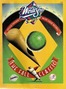 Cover of 1998 World Series program; Padres and Tony Gwynn played Yankees that year.