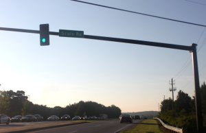 "Street sign reads ""Scale Road"" at Scales Road intersection in Suwanee, GA. (Credit: Steve Burns. Picture taken Aug. 14, 2014.)"